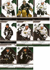 2008-09 UD Upper Deck SP Game Used Dallas Stars Team Set w/ RC's (8)
