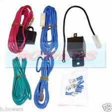 UNIVERSAL 12V SPOTLAMP SPOTLIGHT SPOTLAMPS SPOTLAMPS WIRING HARNESS KIT + RELAY