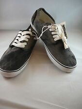 Aeropostale Mens  Canvas Distressed Black  Lace Up Sneakers Shoes Size 11 New