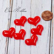 12pcs 22mm Red Valentine Heart Flatback Resin Cabochons Diy Phone case Deco