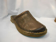 Born Dark Brown Leather Clog Mules Casual Shoes Women's Size 8 M / 39 Euro