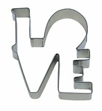 """LOVE  Cookie Cutter 4.5""""  Word Shape Couple Valentine Kiss Family"""