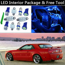 5PCS Bulbs Blue LED Interior Lights Package kit Fit 2005-2009 Ford Mustang J1