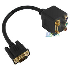 VGA Male to VGA + 3RCA Female Component Digital Dispaly Splitter Adapter Cable