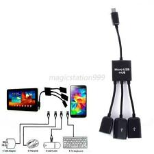 HQ 3 in1 Power OTG Micro USB Hub Adapter Charger Cable For Android Cellphone M20