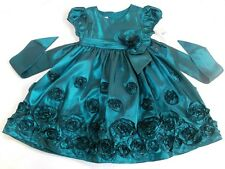 Bonnie Jean girls teal party occasion dress age 4 years