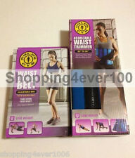 New Gold's Gym Waist Trimmer Belt + Adjustable Waist Trimmer Belt Combo Set