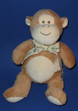 Toys R Us Natural Baby Monkey Plush Brown & Tan Organic Chinp Stuffed Toy 12""