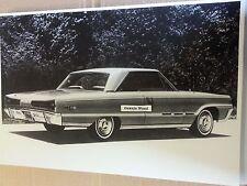 """12 By 18"""" Black & White PICTURE of 1966 Dodge Monaco 500 2 door hardtop"""