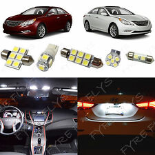 9x White LED lights interior package kit for 2011 & Up Hyundai Sonata YS3W
