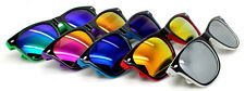 Wholesale Lots 12 Pairs Unisex Wayfarer Sunglasses 2-Tone With Reflected Lens