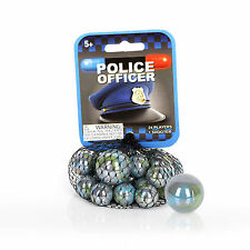 Mega Marbles (Police Officer) 24 Marbles 1 Shooter Net Bag