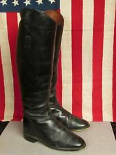 Vintage Black Leather English Riding Boots Tall Equestrian Sz.6.5 England Nice!