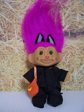 "HALLOWEEN TRICK OR TREATING CAT / KITTEN - 3"" Russ Troll Doll - NEW IN WRAPPER"