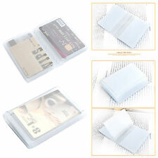 Credit Card Wallet Photo Insert 20 Cards Plastic Vinyl Collect Coupon Bifold
