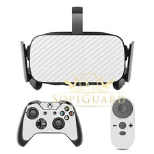 SopiGuard Carbon White Skin Film Protector for Oculus Rift Headset Remote Xbox