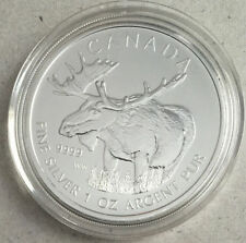 2012 Canada $5 Fine Silver Maple Leaf - Wildlife Series - The Moose