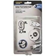 Cord Exten Foot Switch 9ft Wht