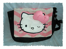 Loungefly Sanrio Hello Kitty Wink Chevron 3D Bow Canvas Messenger Bag