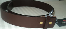 NEW~Mens Vineyard Vines Italian Monteray Leather Belt sz 32  Dk Brown NO BUCKLE