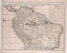 Antique map, Carte de la Terre Ferme du Perou du Bresil et du pays des Amazones