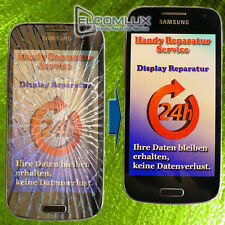 Samsung Galaxy S4 Display Glas Glasbruch Reparatur Blau UV-Vollverklebung