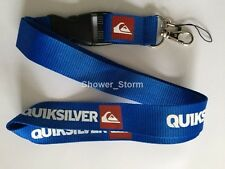 Blue White Quiksilver Lanyard NEW UK Seller Keyring ID Holder Strap