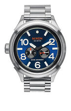 New Nixon October Tide Blue Sunray Dial Stainless Steel Mens Watch A4741258