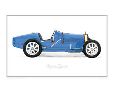 Bugatti Type 35 - Limited Edition Classic Car Print Poster by Steve Dunn