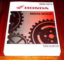 HONDA TRX 450R, 450ER TRX450R TRX450ER OEM REPAIR, SERVICE MANUAL BOOK 04-14