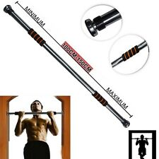 Pull Chin Up Monkey Door Bar 100-150cm Home Exercise Doorway Gym Fitness Workout
