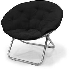 Mainstays Large Black Microsuede Saucer Chair New Free Shipping