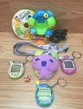 LOT OF 3 Tamagotchi Connection 2004 with Tree, Lanyard, Keychain, CD All Work!