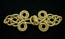 FG139-4 Chinese Frog Closure Buttons Jacket Knots GOLD Handmade/Craft/Sewing