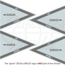 DANGER JET INTAKE LowVis RAF USAF Flugzeug Hubschrauber 50mm Sticker Aufkleber