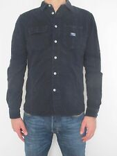 DIESEL 100% original chemise navy blue shirt 39 Medium slim fit, like new