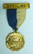 Orig 1920s WESTERN UNION  'OFFICIAL' ATHLETIC Assn Gold Plate Sports Medallion