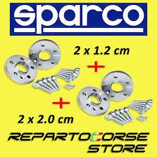 ELARGISSEUR DE VOIES SPARCO 2x12mm + 2x20mm + BOULONNERIE  AUDI A3 SPORTBACK 8VA