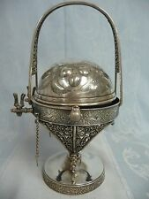 ORNATE VICTORIAN MERIDEN CO. SILVER PLATE BUTTER CAVIAR ROLL TOP DOME SERVER