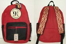 Harry Potter Express Train Platform 9-3/4 Hogwarts Book Bag Backpack Free Ship