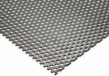 "304 Stainless Steel Perforated Sheet .035"" (20 ga.) x 12"" x 12"" - 1/8"" Holes"