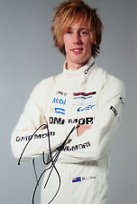 Brendon Hartley SIGNED WEC Porsche Portrait 2014