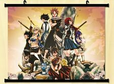 Fairy Tail Natsu Dragnir Home Decor Anime Japanese Poster Wall Scroll  Whole C03
