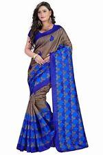 Designer Printed Indian Saree Fabric Saree Bhagalpuri Silk Saree Partywear Sari