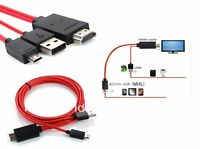 MHL Micro USB to HDMI HD TV Adapter Cable Samsung Galaxy S2 & Note N7000 GO1