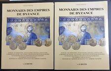MONNAIES DES EMPIRES DE BYZANCE par S. BOUTIN - VOLUME TEXTE ET VOLUME PLANCHES