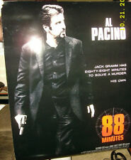 Al Pacino Movie Theater Poster 88 Minutes Double Sided 27x40 LeeLee Sobieski
