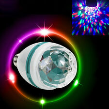 E27 RGB LED Party Disco Light Leuchte Bühne drehen bunte Birne Lampe Lichteffekt