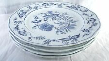 4 Blue Danube Onion Dinner Plates Made in Japan Rectangle Mark