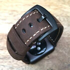 Quality Vintage Brown Leather Watch Strap Band for Apple Watch Iwatch 42mm UK
